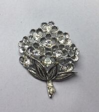 "Vintage SARAH COVENTRY ""Sparkle Lites"" Rhinestone silver tone Brooch Pin"