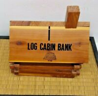 COLLECTIBLE SIX FLAGS GREAT ADVENTURE NJ LOG CABIN BANK