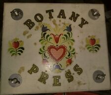 Vintage/Antique Handcraft botany press with Flowers and leaves