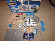 Brio Train Mec Building System Space Ship Station Set Wooden Sweden 34216 RARE