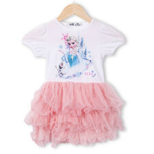 Cartoon Princess Baby Kids Girl Frozen Elsa Tops Party Tutu Cake Dress Sundress
