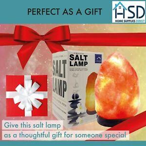 Natural Himalayan Salt Lamp 100% Authentic Healing Pink Rock With Bulb & Plug