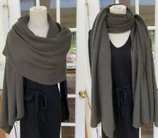 C By Bloomingdale's 100% Cashmere Dark Olive Scarf Shawl Travel Wrap $198 NWT