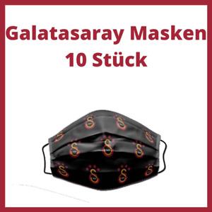 10x Galatasaray Maske Mask - CimBom UltrAslan Sari Kirmizi - 10 Stück