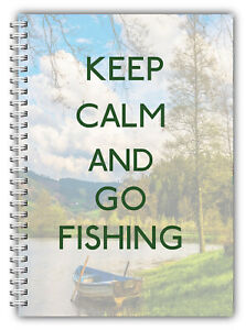 A5 DAILY FISHING LOG BOOK DIARY BIRTHDAY DAD FATHERS DAY GIFT 100 PAGE WIREBOUND
