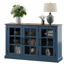 Buffet Sideboard Table Cabinet Server Wood Console Media Audio Display Tv 55�