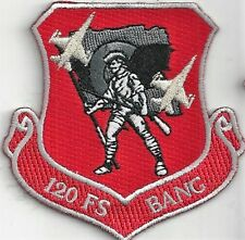 USAF 120th FIGHTER SQ  PATCH -   'BANG'     NEW RED COLOR                 COLOR