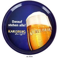 Karlsberg Tablett Serviertablett Kellnertablett blau Ca. 37cm