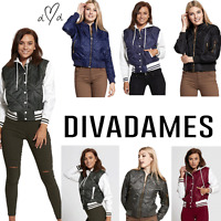 JUSTYOUROUTFIT WOMENS Baseball & QUILTED BOMBER VARSITY JACKET