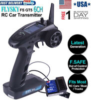 Flysky FS-GT5 6CH RC Transmitter 2.4GHz AFHDS + FS-BS6 Receiver for RC Car Boat