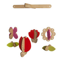 Petit Collage Flower Bamboo Wood Modern Hanging Baby Mobile Nursery Decor