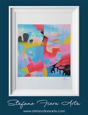 Grafica d'autore firmata Stefano Fiore 33x33 cm con certificato di autenticità