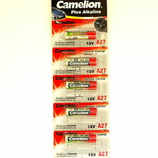 5x  A27  12V Camelion Plus Alkaline High Energy  batteries L828 MN27 27A battery