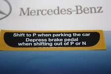 Neu orig. W124 W126 W129 W140 W201 Aufkleber Automatik Getriebe USA US Mercedes