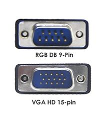New RGB D-sub 9-Pin To D-sub 15 Pin VGA Video Adapter Cable