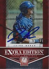 Jairo Beras Texas Rangers 2012 Panini Elite Signed Card