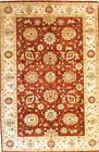 Hand-knotted Rug (Carpet) 6X9'2, Agra mint condition