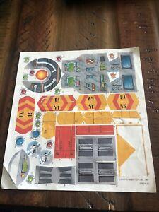 kenner toys 1987 sky commanders vector command center Original sticker sheet