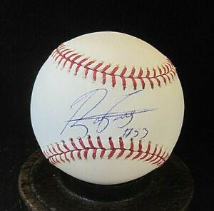 Rafael Perez Signed OML Baseball COA, MLB Authentic, 2006-2012 Cleveland Indians