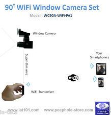 90° Angle Mini WiFi Window Camera for iPhone / Android Smartphone Remote Viewing