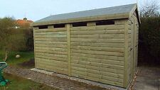 14x8 19mm Apex security Tanalised Shed