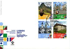 Portugal 2017 FDC Lisboa cultura de Capital Iberoamericana 4v Cubierta sellos de turismo
