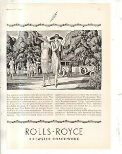 1926 Rolls Royce Original ad - free 100 miles to Palm Beach from Town & Country