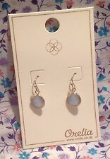 ORELIA EARRINGS ~RRP £15~PRETTY BLUE STONE DROP PALE GOLD FASHION JEWELLERY~8065