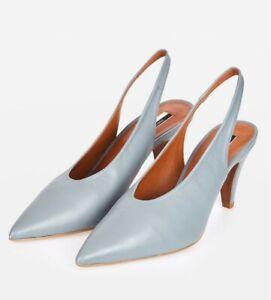 Topshop JEMMA blue Court Shoe Size 5 *NEW Slingback