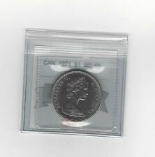 **1971**Coin Mart Graded, Canadian, Dollar, **MS-65**
