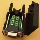 DB9 female 9Pin D-Sub Connector solderless Terminal Board Plastic Co.PI