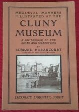 """Antique Book """"Cluny Museum"""" French Guidebook Rare!"""