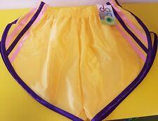 Retro Nailon Satén Sprinter Pantalones Cortos S - 4XL, Amarillo, Morado - Rosa