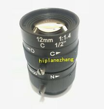 Camera Lens 3Mega Pixels FL 12MM F1.4 FOV 32.5° Manual Iris C Mount 1/2'' Format