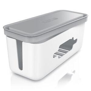 Bearware Kabelbox aus Kunststoff Kabelmanagement Kabelordner Kabelkasten weiß