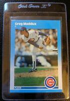 1987 FLEER GLOSSY #U-68 GREG MADDUX ROOKIE CARD RC HOF CUBS BRAVES EX-MT