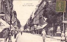 AVIGNON 17 rue de la république pub michelin timbrée 1917