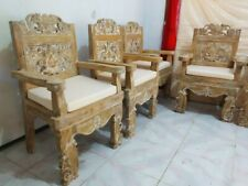 Stuhl Gartenstuhl Stühle Esszimmerstuhl Teakholz Küchenstuhl Sitzmöbel Lehnstuhl