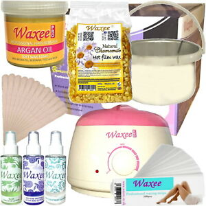 Waxee Complete starter waxing kit soft pot wax or hard film wax HAIR REMOVAL HOT