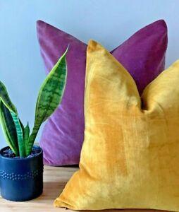 Solid Luxury Cotton Velvet Pillow Case Soft Decorative Car Sofa Cushion Cover