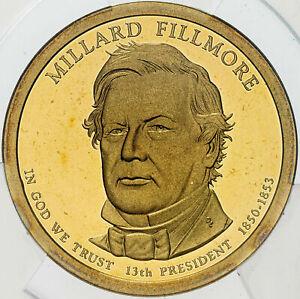 2010-S MILLARD FILLMORE DOLLAR ANACS PR70 DCAM FIRST RELEASE PROOF 0098 OF 1849