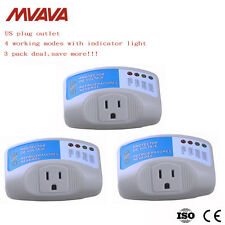 3 Pack Home Appliance Surge Protector Voltage Brownout Plug Outlet 4 work Modes