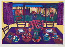 Anita LAURENCE - Home - original signed limited edition linocut - Australian Art