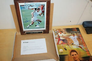 Mia Hamm autographed signed 1999 US Women's World Cup 8x10 photo plaque Nabisco