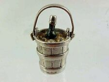 in Ice with Moving Handle Charm Vintage Wells Sterling Silver Shampagne Bottle