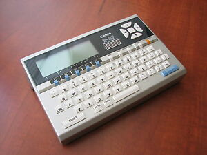 🔴 RARE! NEW/NOS condition Vintage Canon-X07 LCD Basic handheld Pocket Computer