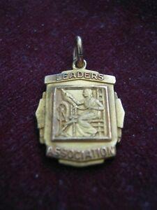 New England Mutual Life Insurance Company 1965 Leaders Association 10K LGB Charm