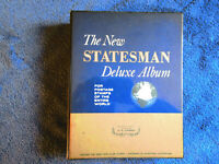 The New Statesman Deluxe Album 935 World & US Postage Stamps 160-23D