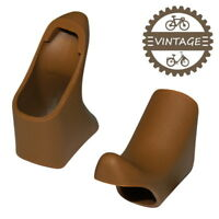AERO BRAKE LEVER HOODS BIKE VINTAGE BROWN ROAD RUBBER MAFAC CAMPAGNOLO SHIMANO