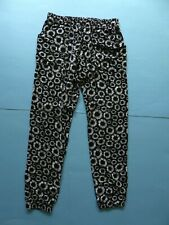 All About Eve Sun Flower Black White Trousers Boho Pants Size Large